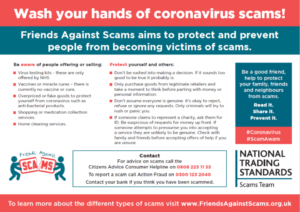 Scam warning poster